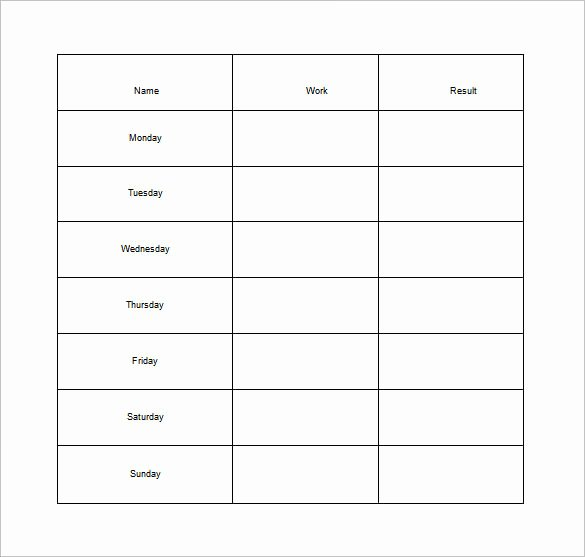 Daily Chore Chart Template New 11 Sample Weekly Chore Chart Template Free Sample