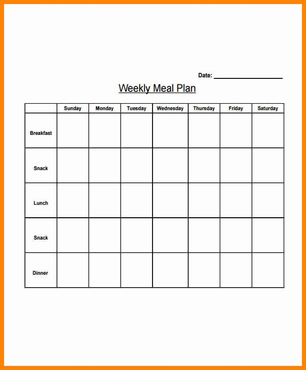 Daily Meal Plan Template Best Of 5 Daily Meal Planning Template