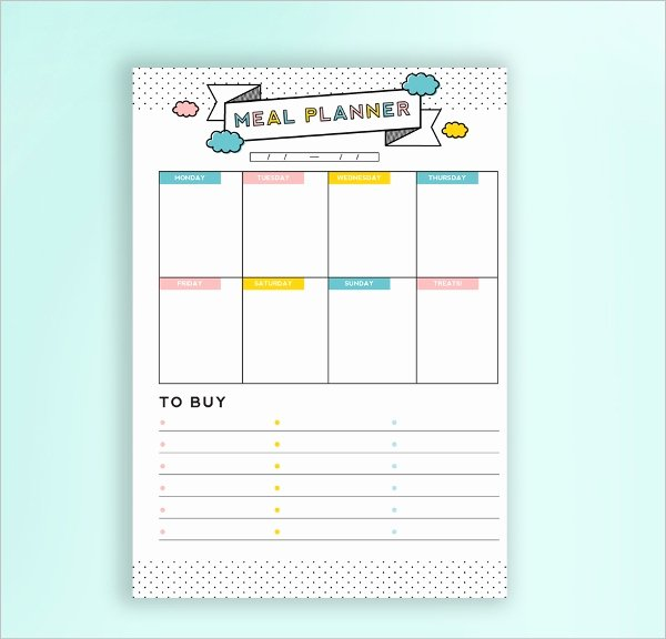 Daily Meal Plan Template Elegant Daily Bud Planner Template 5 Free Psd Ai Eps