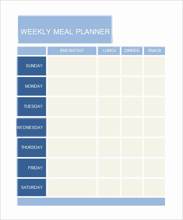Daily Meal Plan Template Lovely 8 Free Printable Daily Planner Templates