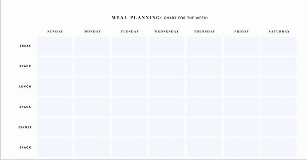 Daily Meal Plan Template New Printable Meal Planning Templates to Simplify Your Life