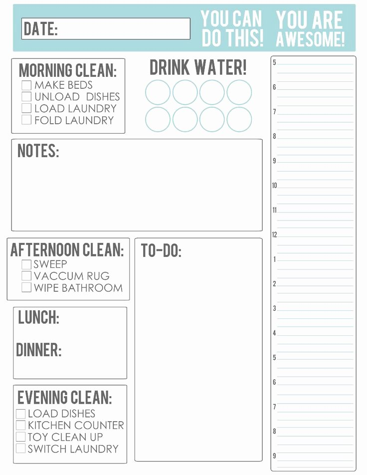Daily Meal Plan Template Unique 22 Best Printable Calendars Planners & to Do Lists 2016