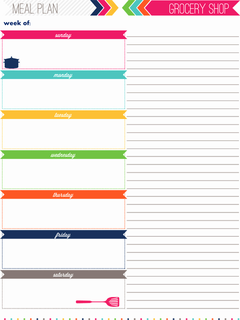 Daily Meal Plan Template Unique Iheart organizing My 2013 Daily Planner
