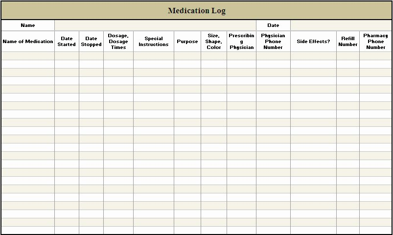 Daily Medication Schedule Template Best Of 5 Best Of Free Printable Medication Log Sheets