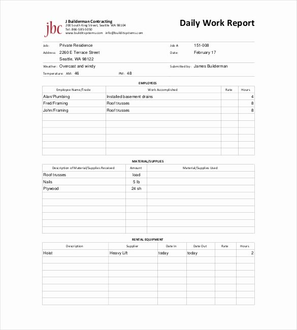 Daily Progress Report Template Best Of Daily Project Report format In Excel Daily Status Report