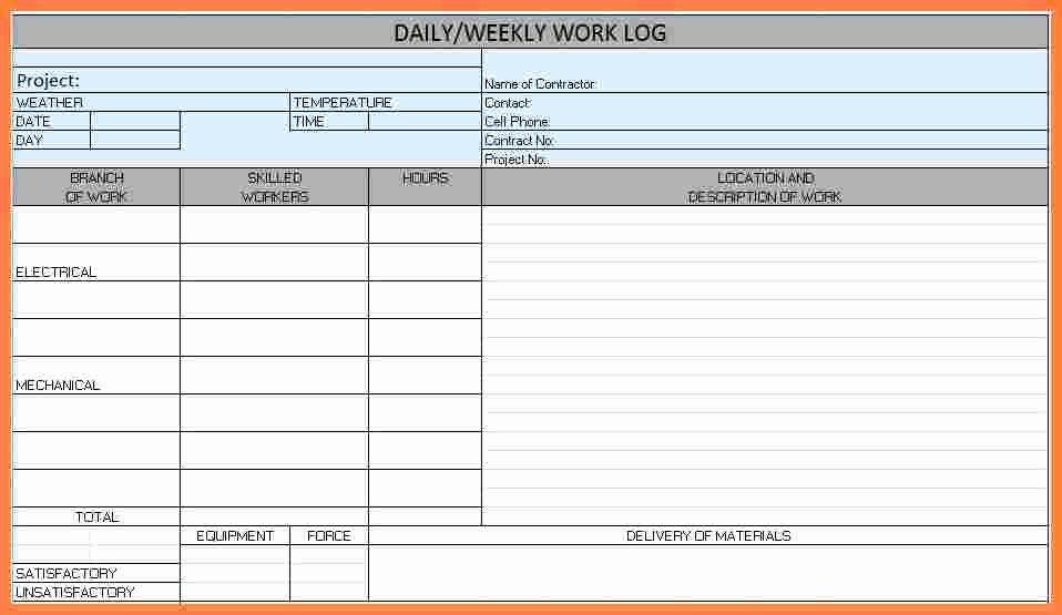 Daily Progress Report Template Luxury 4 Construction Progress Report Template