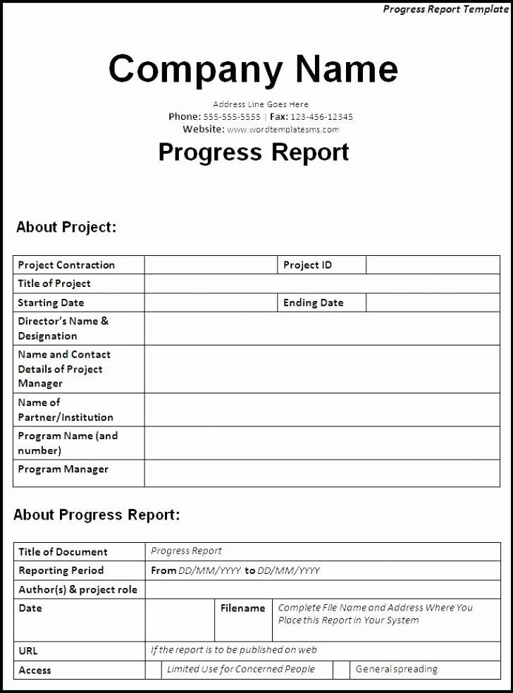 Daily Progress Report Template Luxury Construction Daily Progress Report Template Best Excel