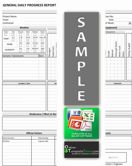 Daily Progress Report Template Unique Project Management forms