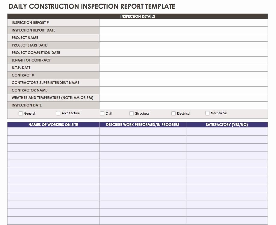 Daily Report Template Word Best Of Construction Daily Reports Templates or software Smartsheet