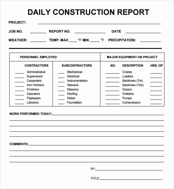 Daily Report Template Word Fresh 10 Daily Report Templates Word Excel Pdf formats