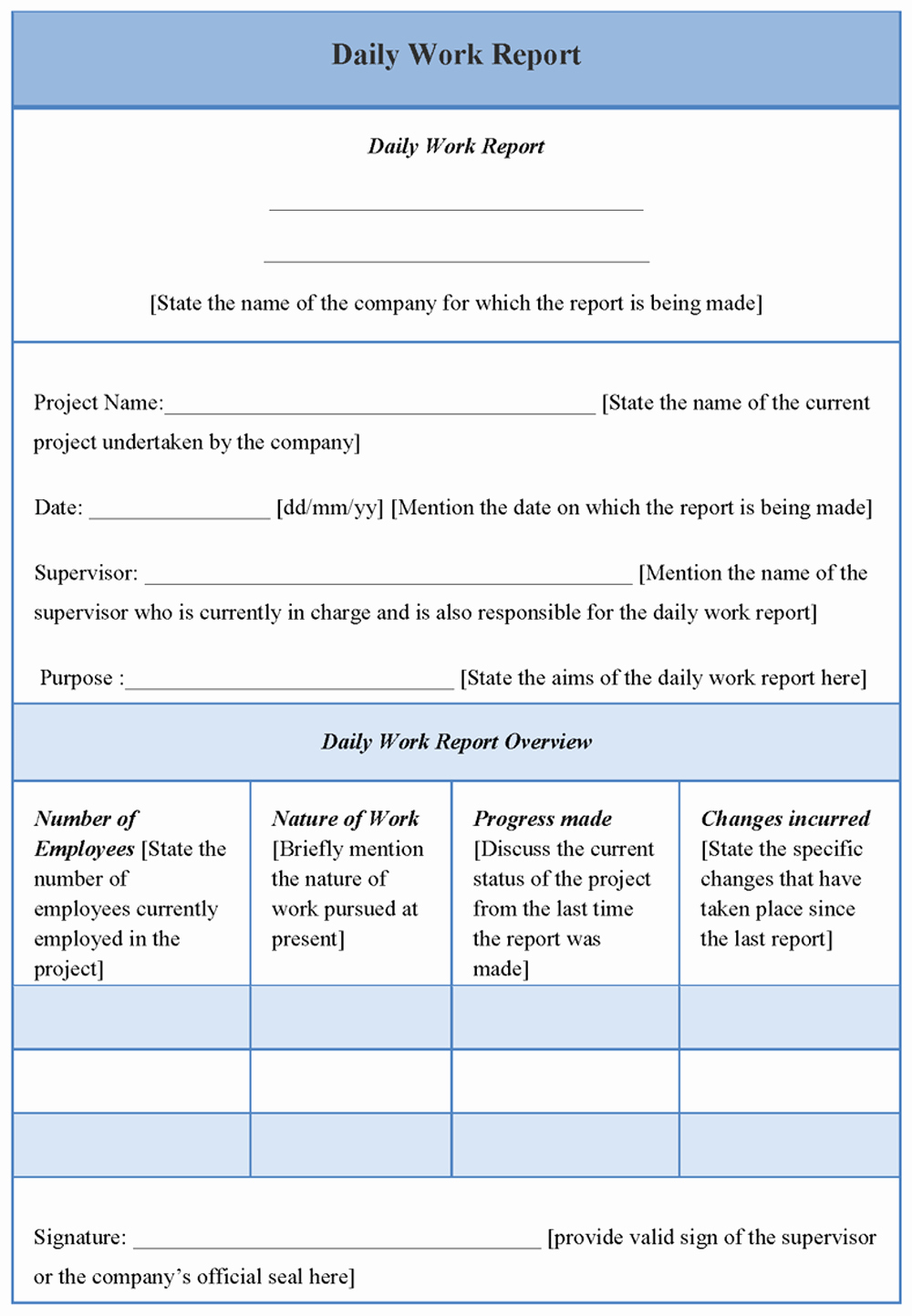 Daily Report Template Word Fresh Best S Of Daily Report Template Word Employee Daily