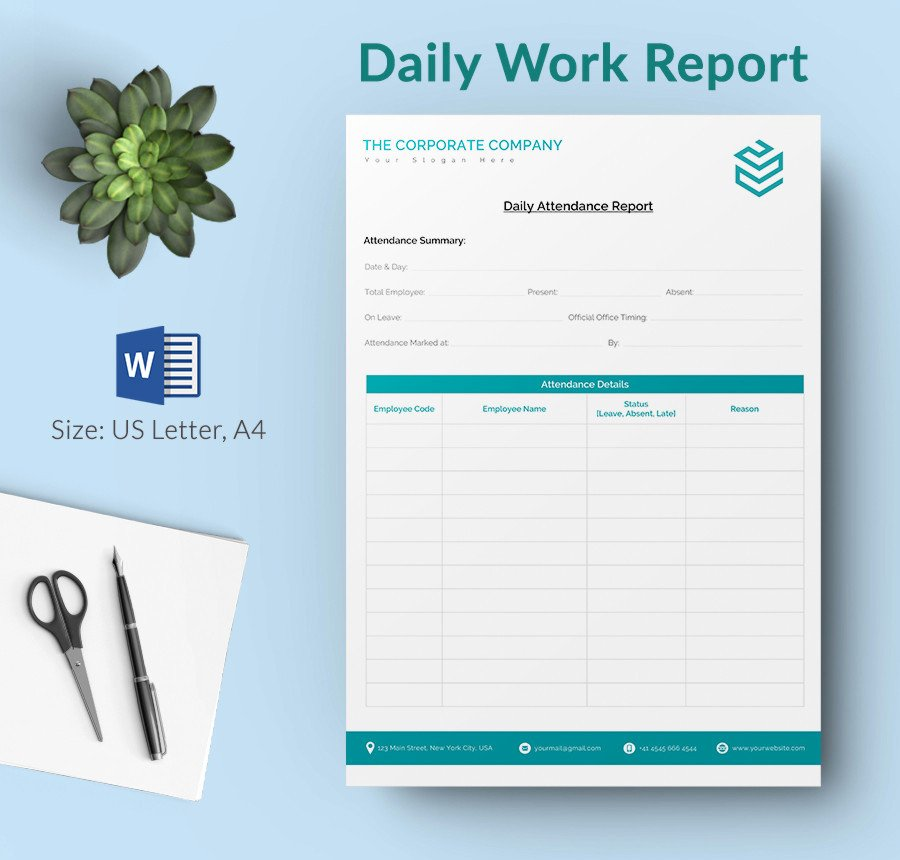 Daily Report Template Word Lovely Daily Report Template 25 Free Word Excel Pdf