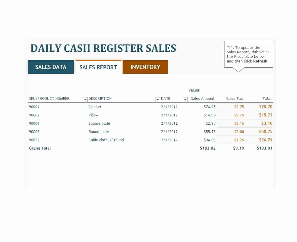 Daily Sales Report Template Fresh 45 Sales Report Templates [daily Weekly Monthly Salesman