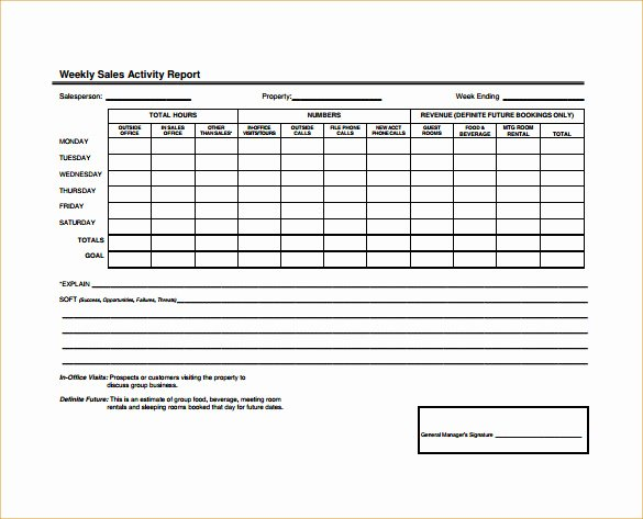 Daily Sales Report Template Inspirational 25 Sales Activity Report Templates Word Excel Pdf
