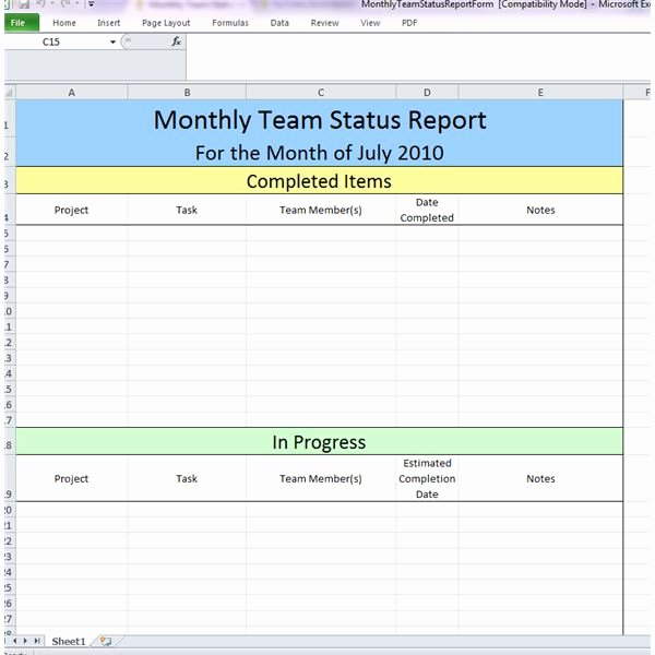 Daily Status Report Template Fresh 23 Of Example Business Team Update Template