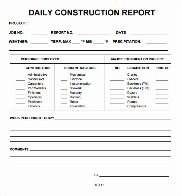 Daily Status Report Template Unique Daily Report 7 Free Pdf Doc Download