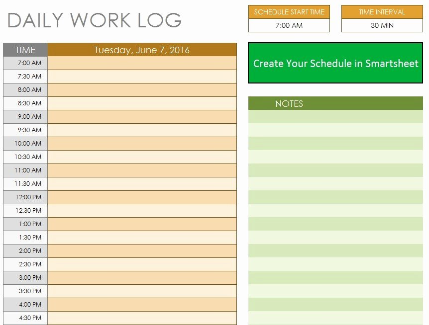 Daily Work Log Template Best Of 10 Free Sample Daily Log Templates Printable Samples