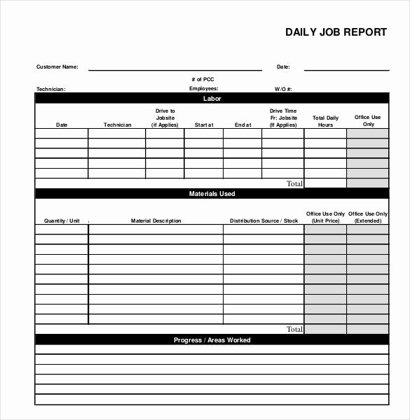 Daily Work Report Template Best Of 64 Daily Report Templates Pdf Docs Excel