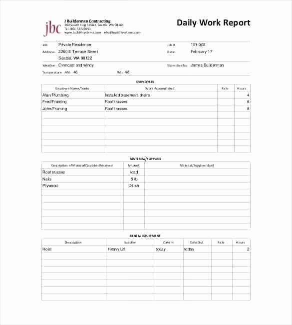 Daily Work Report Template Elegant Daily Report Templates 8 Free Samples Excel Word