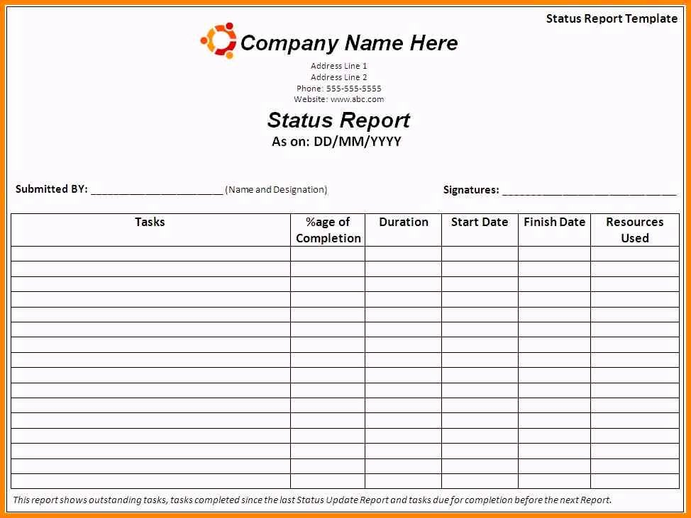 Daily Work Report Template Inspirational Work Report Template Templates Station