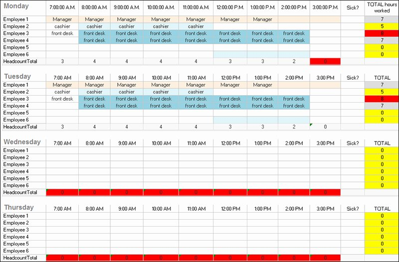 Daily Work Schedule Template Awesome 31 Daily Work Schedule Templates Free Pdf Excel Word
