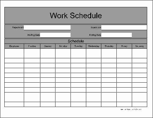Daily Work Schedule Template Lovely 9 Daily Work Schedule Templates Excel Templates