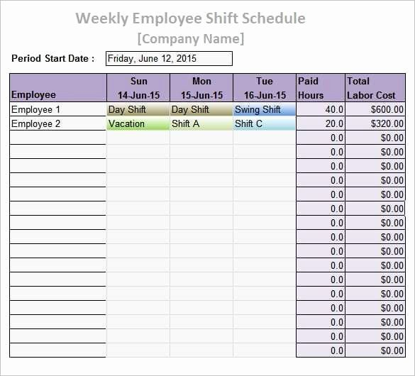 Daily Work Schedule Template Lovely 9 Work Schedule Templates Word Excel Pdf formats