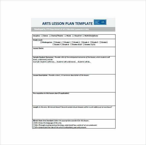 Dance Lesson Plan Template New Elementary Art Lesson Plan Template 40 Lesson Plan Samples