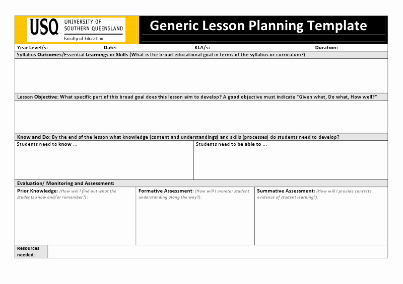 Danielson Lesson Plan Template Best Of Lesson Plan Template Qld Download 43 Unique Danielson