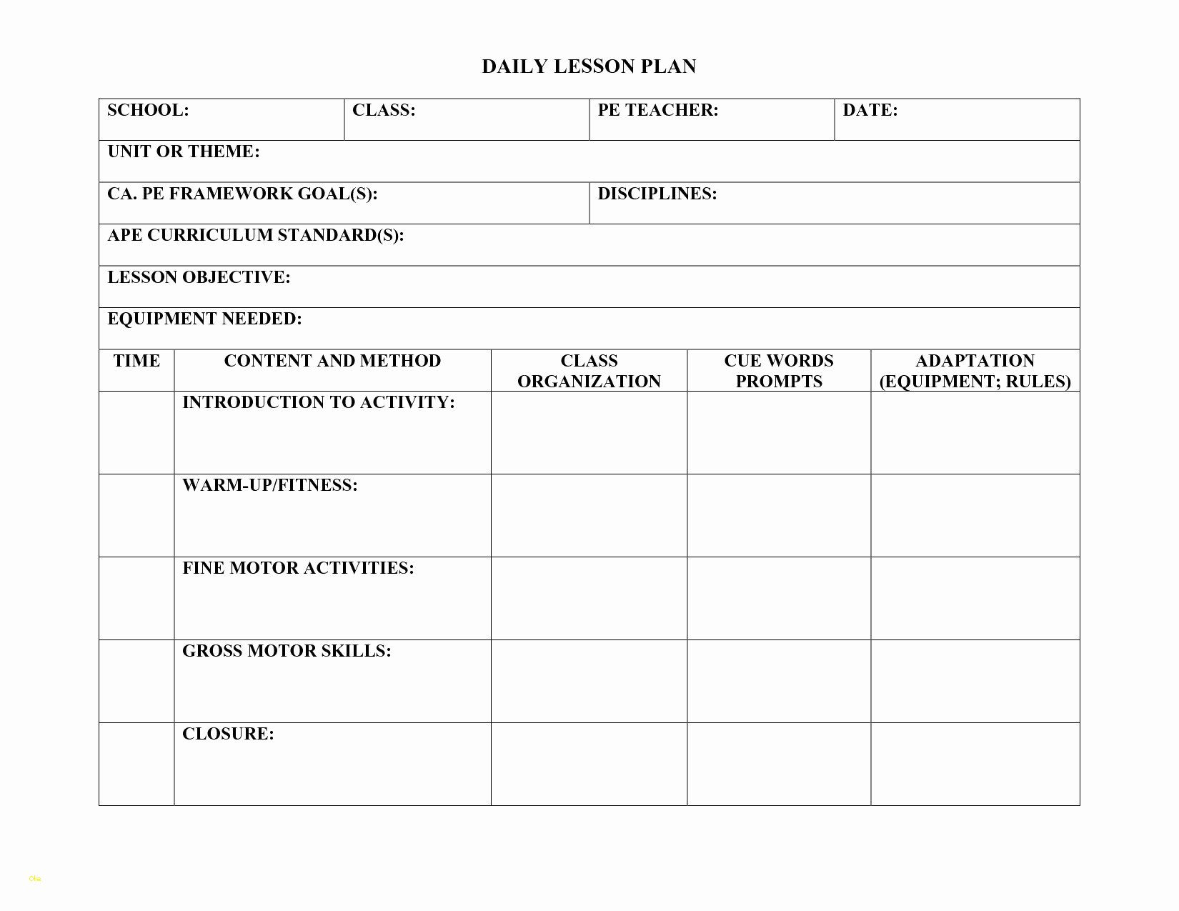 Danielson Lesson Plan Template Best Of Lovely Danielson Lesson Plan Template