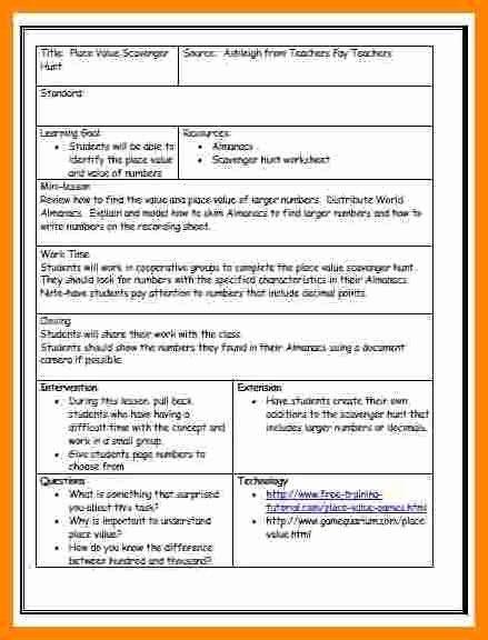 Danielson Lesson Plan Template Inspirational Danielson Framework Lesson Plan Template