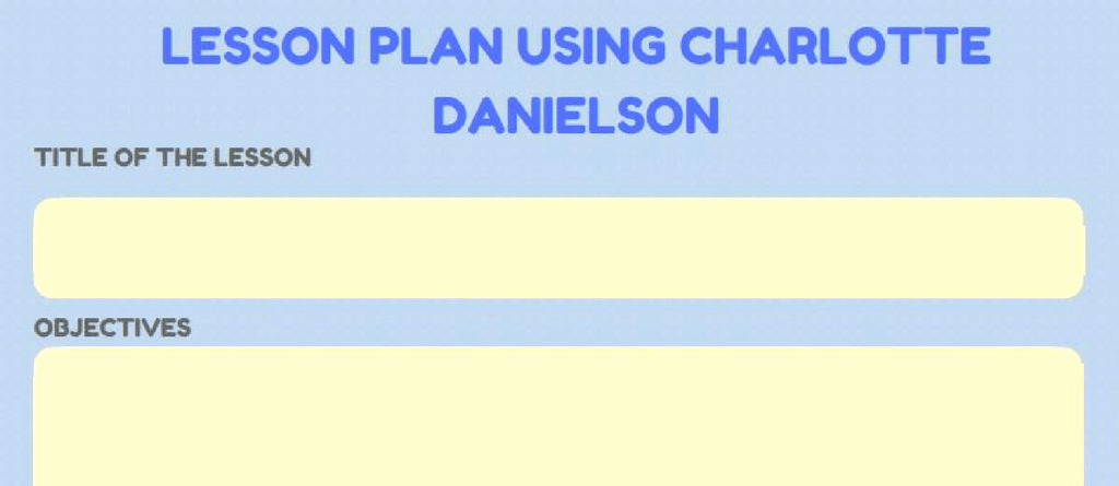 Danielson Lesson Plan Template Luxury Charlotte Danielson Lesson Plan Template Doc Danielson