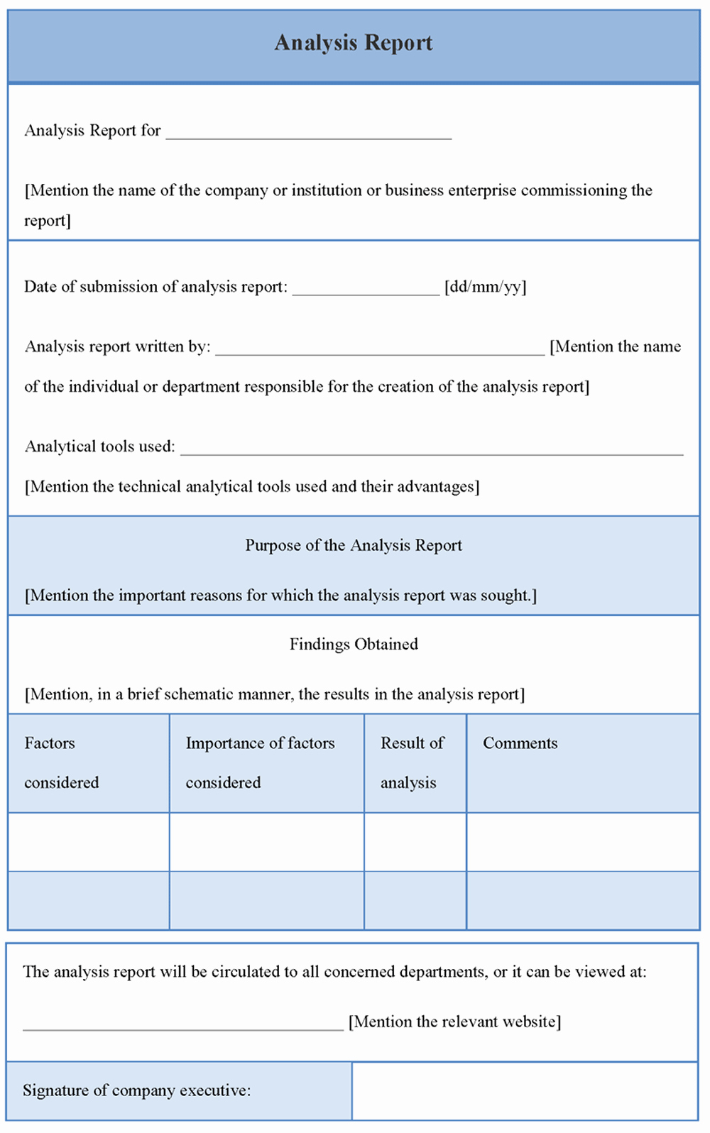 Data Analysis Report Template Best Of High Quality Blank Data Analysis Report Template and form