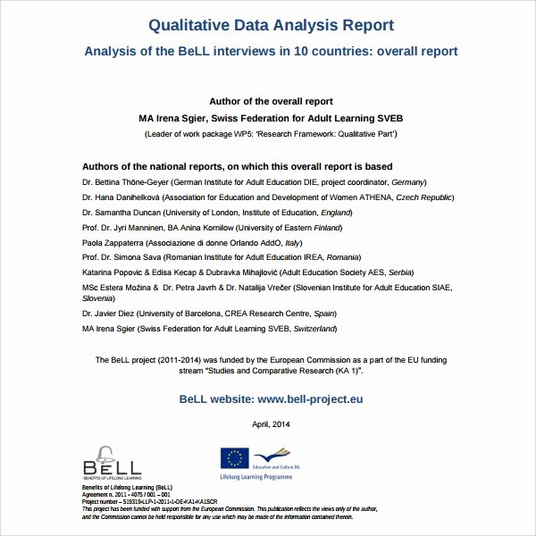 Data Analysis Report Template Inspirational 10 Analysis Report Templates – Free Samples Examples