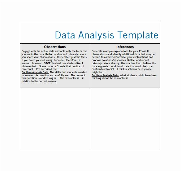 Data Analysis Report Template Lovely 5 Data Analysis Samples