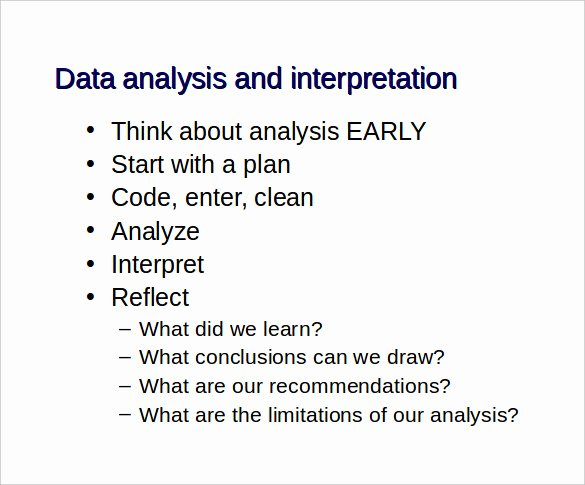 Data Analysis Report Template Unique Data Analysis Report Template 7 Documents In Word Ppt Pdf