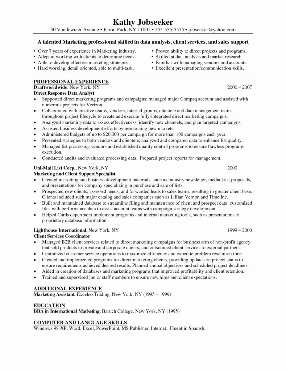 Data Analyst Resume Template Best Of Business Analyst Resume Indeed