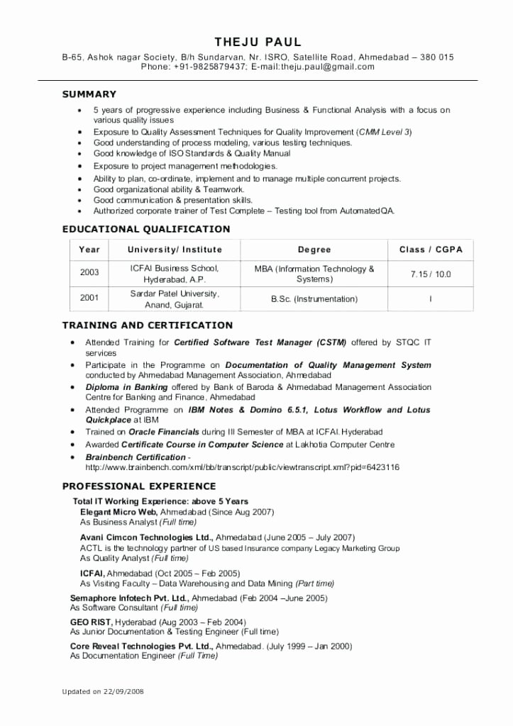 Data Analyst Resume Template Unique Sample Data Analyst Resume – Gyomorgyurufo