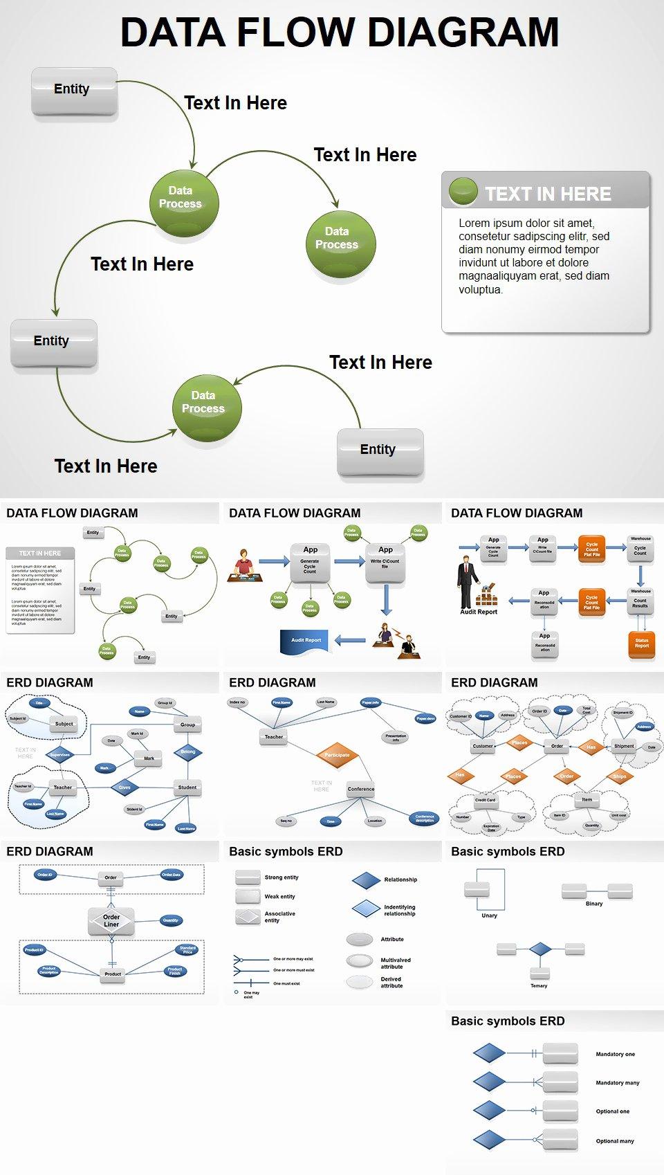 Data Flow Diagram Template Best Of Data Flow Powerpoint Diagrams Presentation