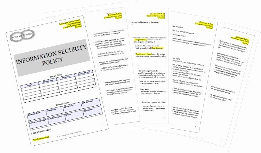 Data Security Policy Template Beautiful Information Security Policy