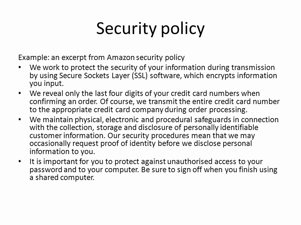 Data Security Policy Template Inspirational It Security Policy Templates Printable Information