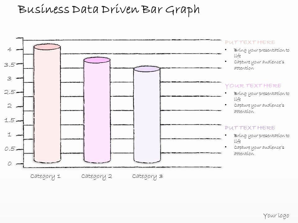 Database Driven Website Template Beautiful 0614 Business Ppt Diagram Business Data Driven Bar Graph