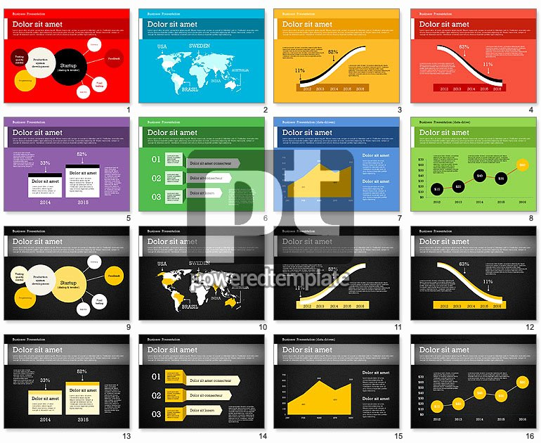 Database Driven Website Template Beautiful Business Report Modern Presentation Template Data Driven