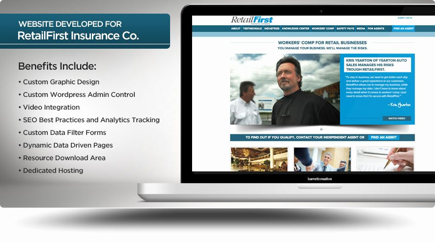 Database Driven Website Template Best Of Web Design Retailfirst Insurance Pany Barrett Creative