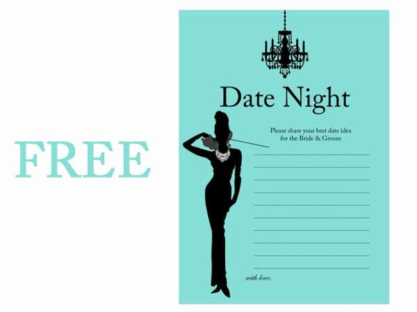 Date Night Invitation Template Awesome 97 Best Images About Bridal Shower Free Printables On