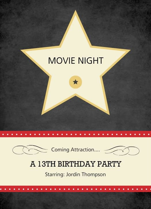 Date Night Invitation Template Elegant 50 Best Hollywood Invitations and Save the Date Ideas
