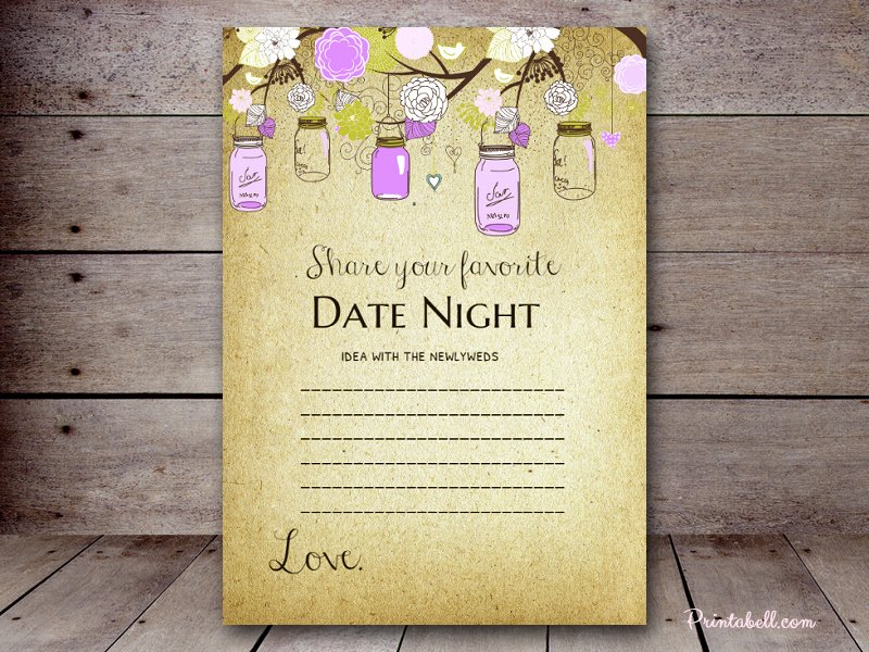 Date Night Invitation Template Fresh Date Night Cards – Printabell • Create