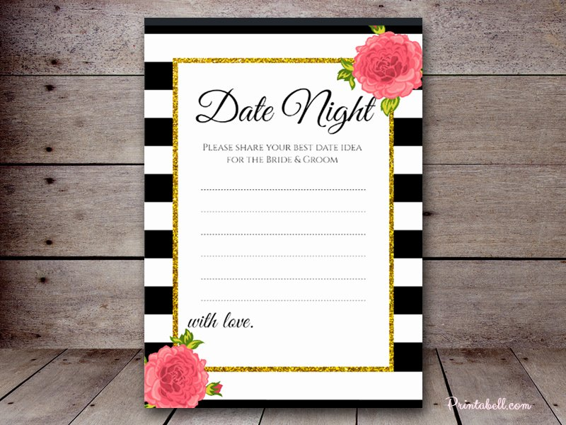 Date Night Invitation Template Inspirational Date Night Cards – Printabell • Create