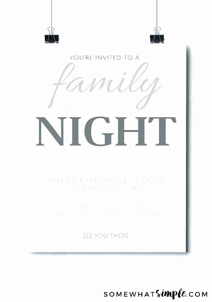 Date Night Invitation Template Unique Free Movie Night Flyer Template Game Invitation