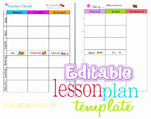 Daycare Lesson Plan Template Luxury Cute Lesson Plan Template… Free Editable Download